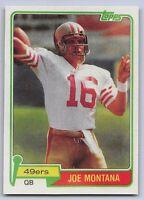 "1981 JOE MONTANA  - Topps ""ROOKIE REPRINT"" Football Card - #216 - SF 49ERS"