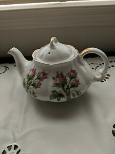 Wood And Sons England Alpine White Ironstone teapot