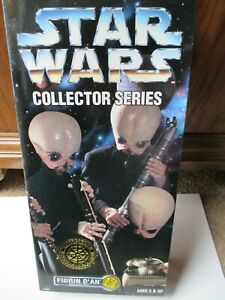 """Star Wars Collectors Series Kenner Cantina Band Figrin D'An 10"""" Figurine 1997"""