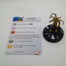 Heroclix Civil War OP set Goldbug #035 Common figure w/card!