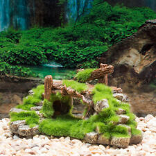 1PC Fish Resin Moss Bridge Fish Play Cave Decor for Fish Tank Aquarium Orname LD