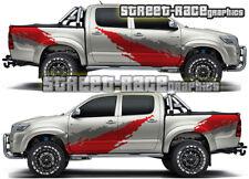 Toyota Hilux 018 lado Cab & Tina barro Splatter Grunge Gráficos Pegatinas Calcomanías