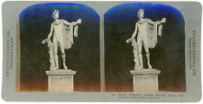 Stereo, Stereo Travel Co., Apollo Belvedere, Vatican Museum, Rome, Italy Vintage
