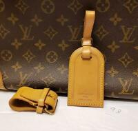 Authentic LOUIS VUITTON Large Leather Luggage ID Tag Name Tag with Strap [#98]