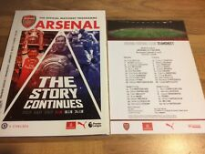 Arsenal v Chelsea Official Matchday Programme & Teamsheet 3rd January 2018