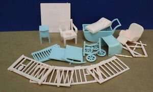 Renwal Doll House Furniture Complete Nursery Set 24 Pcs Mint NOS 50s 1:16 Ideal