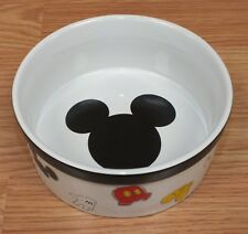 Disney Small Ceramic Mickey Mouse Multi Color Dog Animal Food / Water Dish Only