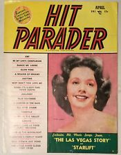 Vintage song book Hit Parader magazine - Piper Laurie cover April 1952