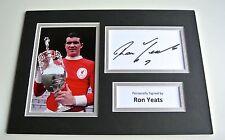 Ron Yeats SIGNED autograph A4 Photo Mount Display Liverpool LFC Football & COA
