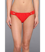 SHOSHANNA SOLID LOOP BIKINI SWIM BOTTOMS BRIEFS CHERRY RED SOLID SMALL NEW! $74
