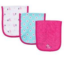 Gerber Baby Girl 3-Pack Terry Burp-Cloths Pink Giraffe BABY CLOTHES SHOWER GIFT!