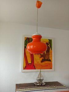 Decken Lampe 70er Jahre Peill Putzler Glas  Retro Vintage mid Century Space Age
