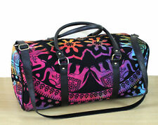 Indian Cotton Duffle Handbag Ombre Mandala Throw Tie Die Hippie Bags Travel Gym