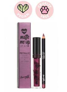 Barry M Matte Me Up-Lip Kit Metallic Liquid Lip Paint + Liupliner-Avant Garde
