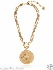 SOLD OUT!!! VERSACE GOLD PLATED CHAIN NECKLACE WITH MEDUSA CHARM PENDANT