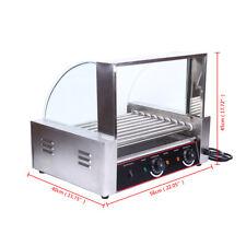 Roller Dog Commercial 24 Hot Dog 9 Roller Grill Cooker Machine Sausage Cooker
