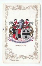 Worcester Arms Ja Ja Heraldic Series 12 Aug 1907 Newson Compton Avenue Brighton