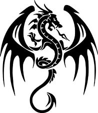 LARGE car van bonnet dragon tribal vinyl graphic decal side stickers wall art