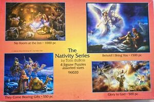 The Nativity Series By Tom DuBois-4 Jigsaw Puzzles Assorted Sizes USED 96020 HTF