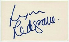 LYNN REDGRAVE SIGNED AUTOGRAPHED 3x5 INDEX CARD ORIGINAL PHOTO PROOF Georgy Girl