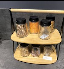 ikea wooden spice rack (jars Not Included)