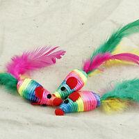 3x Maus Ratte Weave Chew Biting-Spielzeug für Kätzchen Cats S1Z2