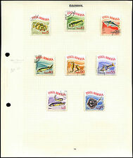 Romania Fish, Marine Life Album Page Of Stamps #V4414