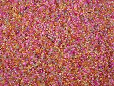 """Seed Beads 2mm Mix of """"Inside"""" Colours 50g Glass 10/0 Necklaces FREE POSTAGE"""