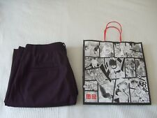 Ladies Uniqlo Smart Style Trousers  Plum ankle length size small 8 New! Autumn