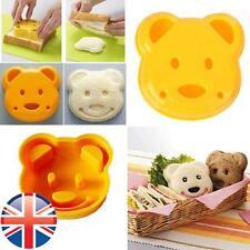 *UK Seller* Children Kids Bear Shaped Sandwich Crust Cutter Mould Stamp Lunch