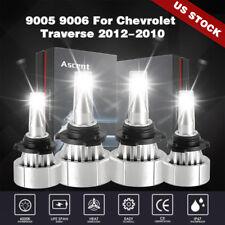 9005 9006 HI/LOW LED Headlight Bulb Kit 48000LM For Chevrolet Traverse 2012-2010