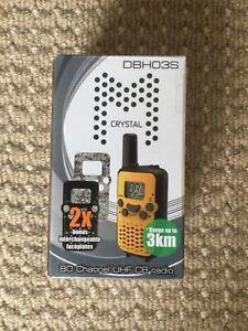Crystal M DBH03S 0.5watt 80 Channel Hand-held UHF CB Radio (Single Unit)