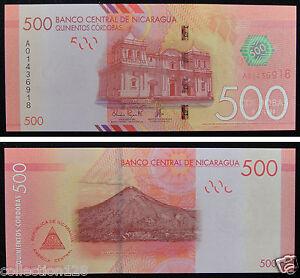 NICARAGUA Banknote 500 Cordobas 2015 UNC