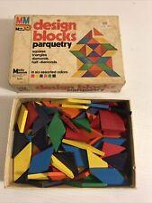 Vintage 1977 Media Materials Design Blocks Parquetry Pattern Blocks