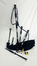 Great Highland Bagpipe Silver Mounts Black Polished Rosewood Chanter Reeds 1
