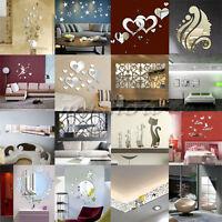 Fashion New 3D Acrylic Mirror DIY Wall Home Decal Mural Decor Vinyl Art Stickers