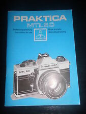 Bedienungsanleitung Praktica MTL 50  Pentacon Foto Photo Kamera Camera caméra