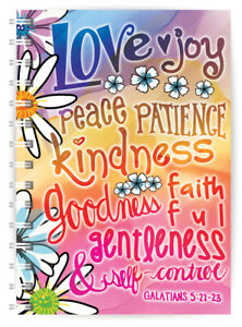 Fruits of the Spirit A5 Christian Notebook Ruled with Bible Verse Christian Gift