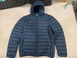 BNWOT Ellesse Lombardy Puffer Jacket Navy Blue Size L RRP$160