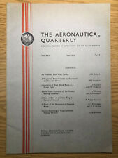 The Aeronautical Quarterly (Royal Aeronautical Society Journal) RARE May 1974