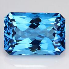 6.29Cts Extrardinary Natural Swizz  BlueTopaz Radiant Cut Square Shape Gemstone