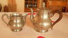 theiere et pot à lait - étain et palissandre - art déco -