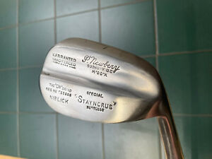 Hickory Golf Club Rare Patent DW Brand Top Weight No7 Large Head Niblick