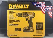 Dewalt DCD785C2 20-Volt Max (1.5 Ah) Li-Ion Compact Hammerdrill