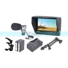 """FW-7D 7"""" HD LCD Camera Monitor+ 6600mAh Battery + 11"""" Magic Arm + Microphone Kit"""