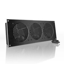 "AIRPLATE S9, Quiet Cabinet Fan 18"" for Home Theater AV Amplifier Media Cooling"