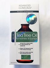 Advanced Clinicals Tea Tree Face Oil for Redness & Bumps 1.8 ozs - NIB