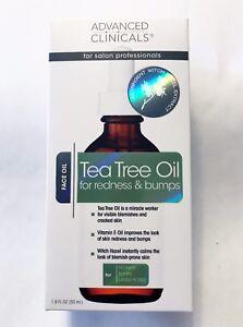 Advanced Clinicals Tea Tree Face Oil for Redness & Bumps 1.8 ozs - NIB