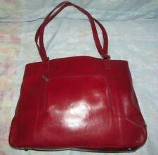 Women's HOBO International Red Leather Large Tote Handbag