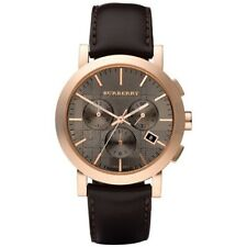 BURBERRY BU1863 Herringbone Chronograph Brown Dial Rose Gold-Plated Men's Watch